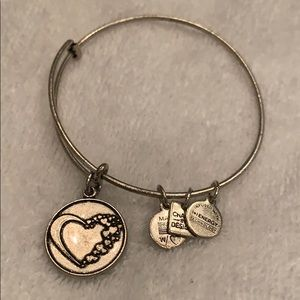 Alex and Ani Bracelet with heart charm